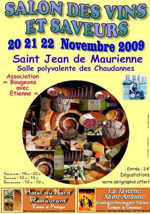 salon des vins et des saveurs les 20 21 et 22 novembre 2009 saint jean de maurienne savoie. Black Bedroom Furniture Sets. Home Design Ideas